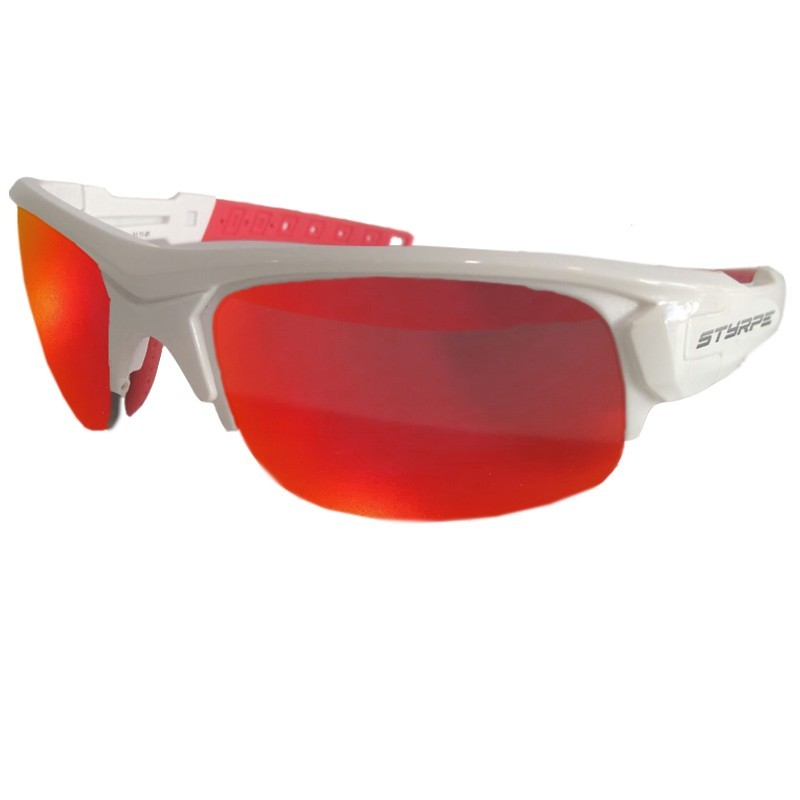 Sport sunglasses STY 03 white + RX adapters