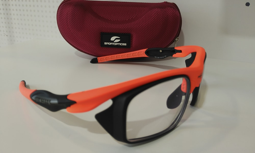 Sty 049 Orange, graduada con adaptadores Rx, vista lateral