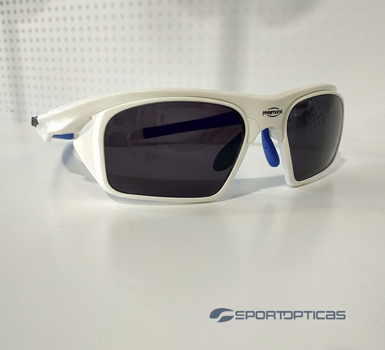 Ejemplo FeelMorys MS-049 White/Blue graduadas con lentes Smoke.