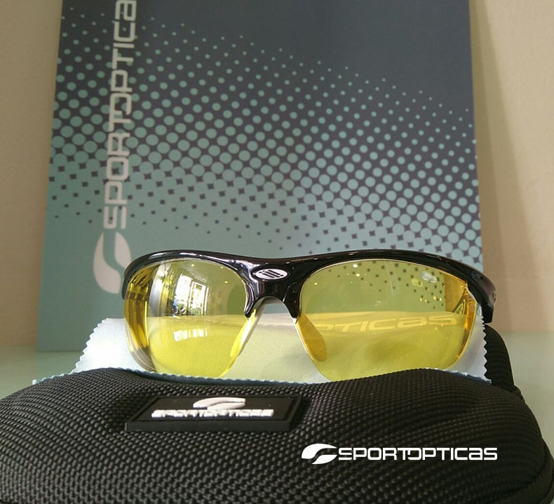Ejemplo Rudy Project Stratofly graduada con lentes Yellow.