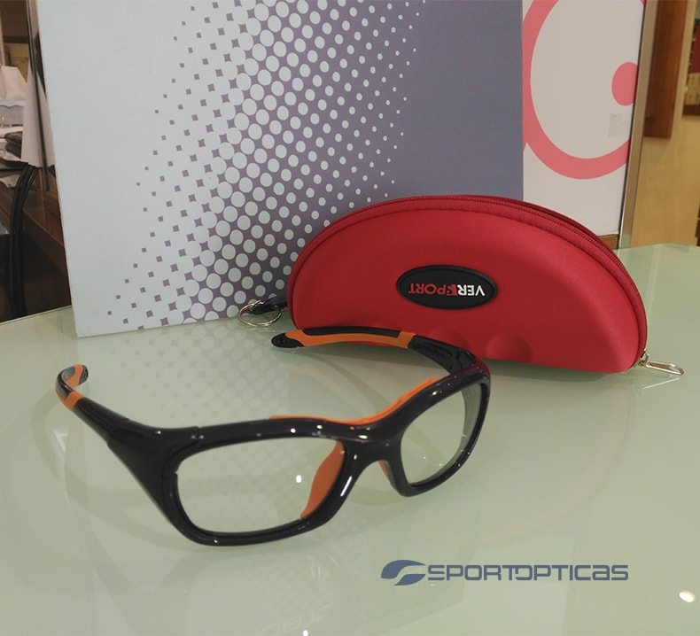 Ejemplo gafas de protección graduadas Versport Hercules Blue/Orange.