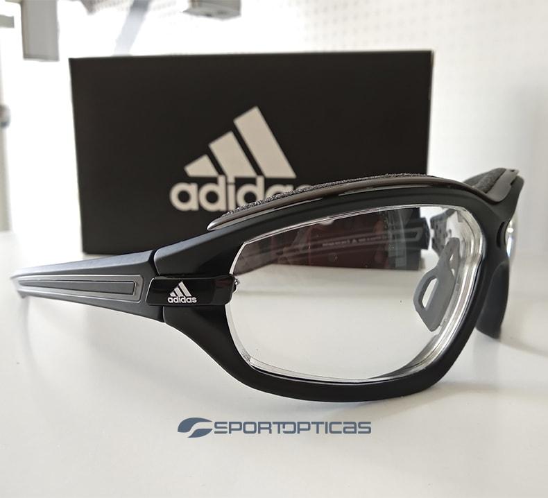 Ejemplo Adidas Evil Eye Evo Black/White graduada con lentes fotocromáticas.