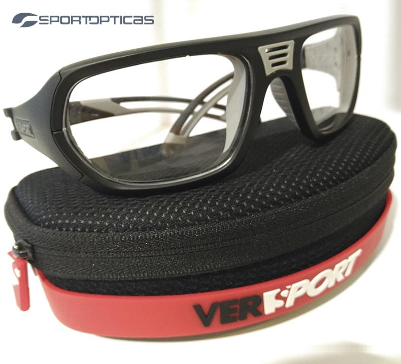 Ejemplo gafa de protección Versport Troy graduada con lentes transparentes