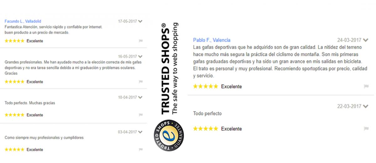 Valoraciones de nuestros clientes tras comprar su gafa