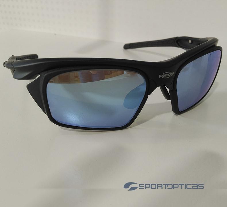 FeelMorys MS-049 Matt/Black graduada con lentes blue.